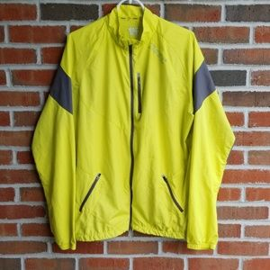 Zoot Cycling Jacket Neon Yellow and Gray Sz XL